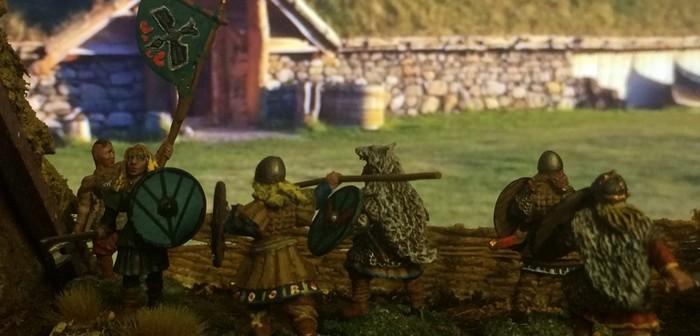 Die SAGA-Schildmaiden-Söldner von Gripping Beast und Stronghold Terrain.