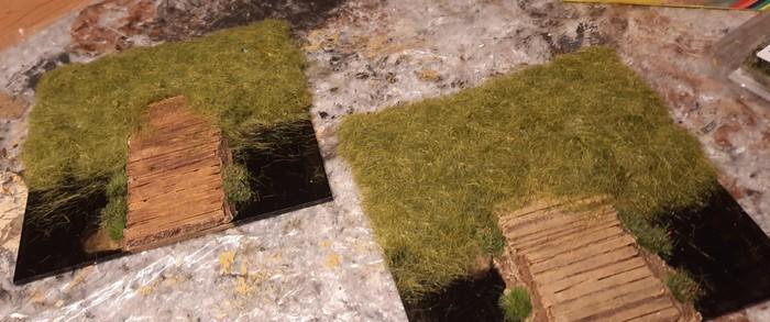 Nach dem Entfernen des überschüssigen Grases nahmen die Terrain Tiles Gestalt an.