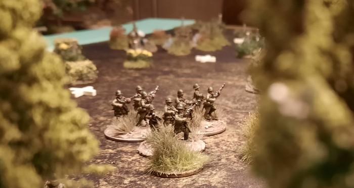 Ein Square mit Rifle Foot Groups in der zweiten Verteidigungslinie