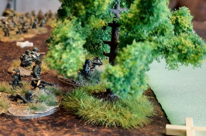 Die Rifle Groups des Panzer-Grenadier-Regiment 110 im vordersten Schützengraben.