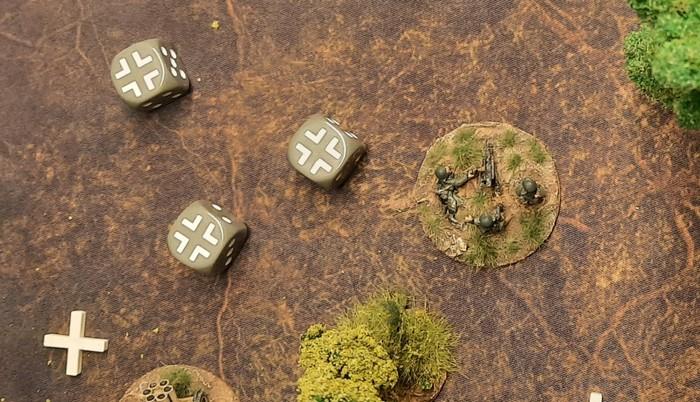Das Support-Platoon des Panzer-Grenadier-Regiment 110 ist ziemlich aufgerieben.