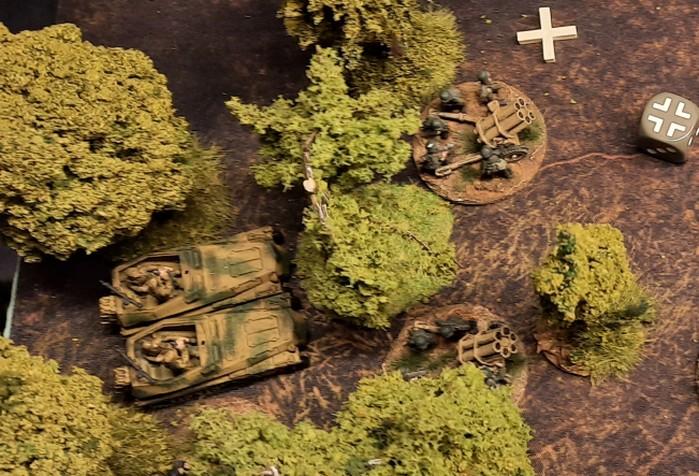 Erneuter Feuerschlag der beiden 15cm Nebelwerfer des Nebelwerfer-Regiment 55 und der beiden Sd.Kfz. 250/7 – leichter Schützenpanzerwagen (schwerer Granatwerfer) des Panzer-Grenadier-Regiment 110.