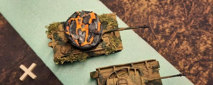 Show-Down beim Panzer-Regiment 15. Die Kpf.Pz. IV Ausf. H fallen der Reihe nach aus.