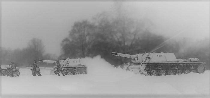 Russischer Sturmangriff mit den SU-152 - aus den XENA-Studios in Monnem