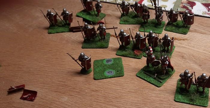 """Die """"Early Imperial Roman Legionaries Advancing"""" von Victrix nach ihrer Ankunft."""
