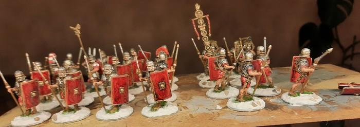 """Die """"Early Imperial Roman Legionaries Advancing"""" von Victrix mit neuen Bases."""