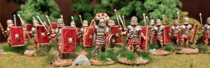 Sind schon ganz schön geil, die Early Imperial Roman Legionaries Advancing von Victrix.