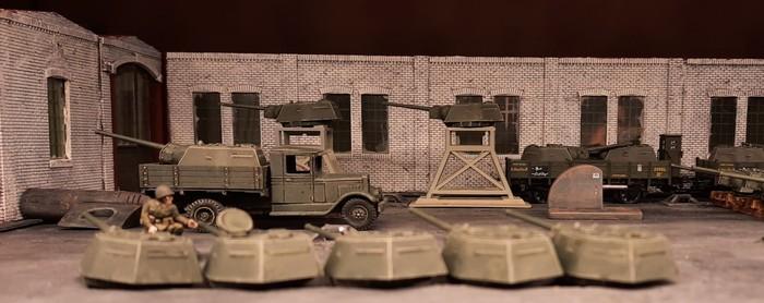 Auch die Lagerung der Halbzeuge erfolgte in russischer Manier.