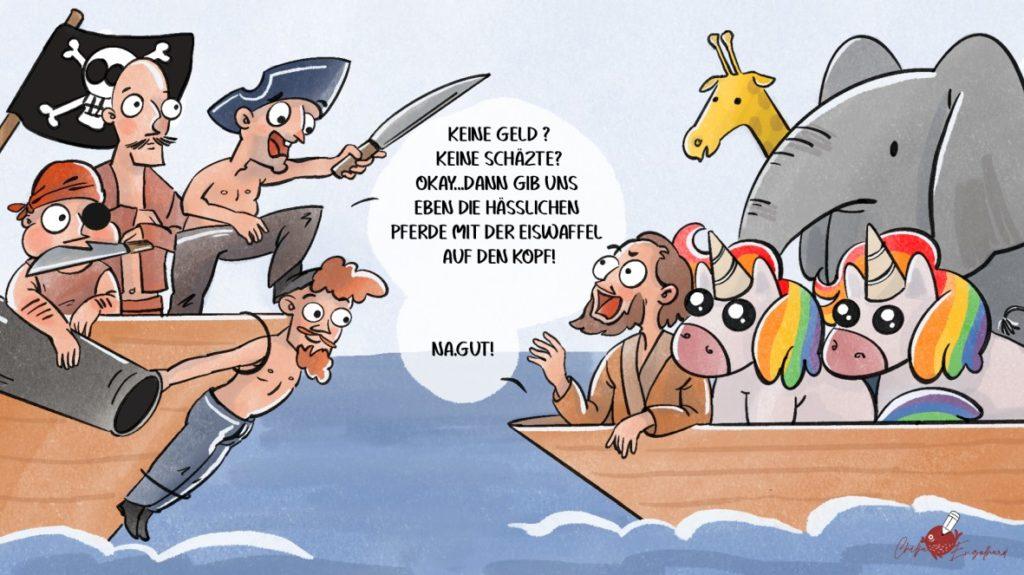 Neulich auf der Arche Noah... (Künstlerin: Chilja Engelhard)