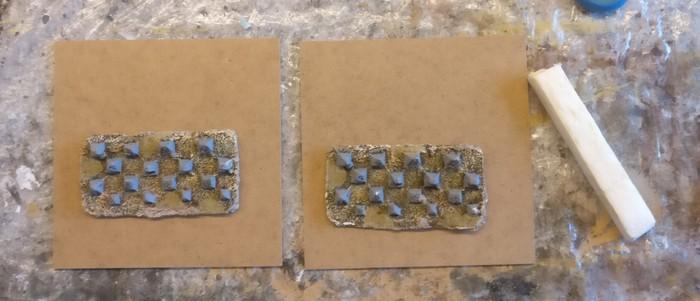 XENAs Drachenzähne liegen hier probeweise auf den Terrain Tiles auf.
