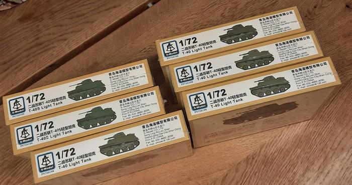 """Für die """"Swir-Petrosawodsker Operation"""": 12x  S-Model Schwimmpanzer T-40 / T-40S ( S-Model PS720198 / PS720199 )"""