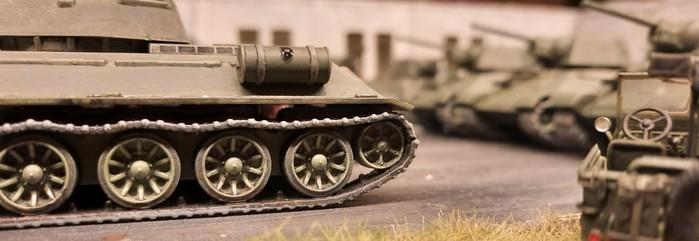 Einer der T-34/76 aus der Nähe.