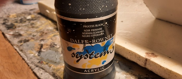 """""""Process Black"""" von Daler Rowney - aus Sturmines Materiallager. Die Rettung."""