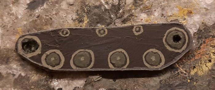 Die fertige Ersatz-Panzerkette für meinen Teppichmonster-geschädigten T-40