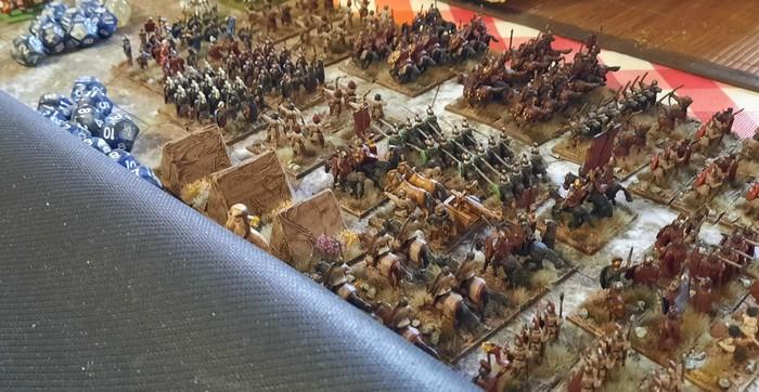 Die stürmische Armee im Bereitstellungsraum.