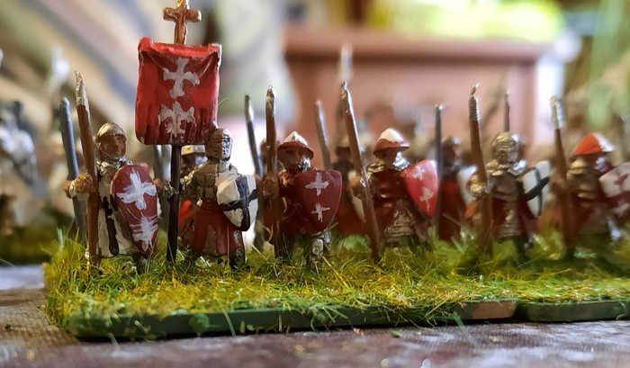 Auch diese Milizen bekannter deutscher Provenienzen nahmen am Gefecht teil.