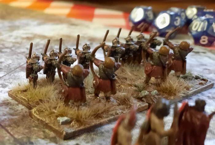 Diese Herren ließen wir in der Rollen von Bogenschützen am Gefecht teilnehmen.