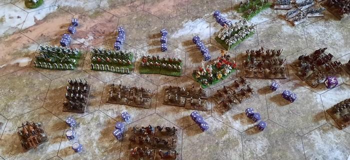 Eines der letzten Gefechte. Beide Armeen haben sich etwas verhakt.