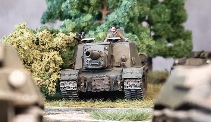 Die mischen ganz vor immer mit: die ISU-152 vom 378. OTSAP.