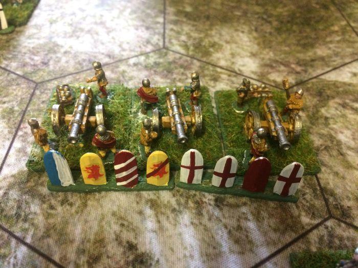 Die schwere Artillerie des Ordens. Historisch: zur Schlacht von Tannenberg wurden Kanonen aus den Befestigungen der Marienburg ausgebaut, um in der Schlacht eingesetzt werden zu können.