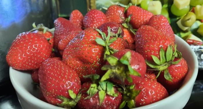 Erdbeeren. Ja klar, die sind natürlich zeitlos...