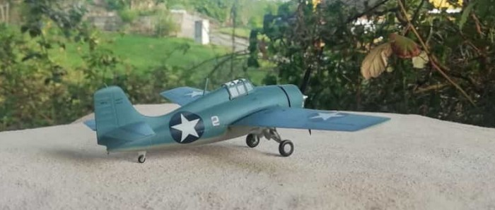 Die Grumman F4F Wildcat der US Navy aus der Nähe.