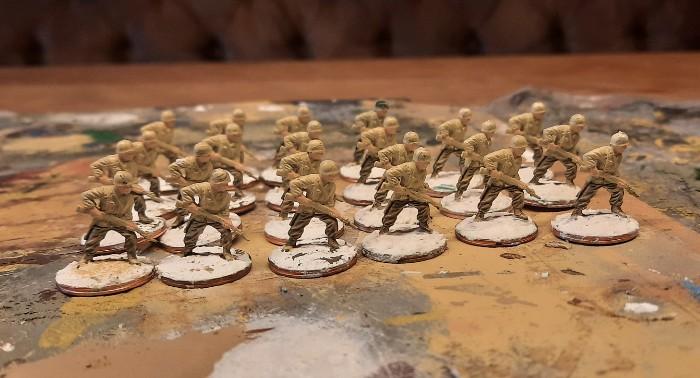 Hier setze ich auf, um mit den 22 Schützen mit M1918 Browning Automatic Rifle die 3rd US Infantry Division auszurüsten.