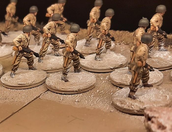 Erster Einsatz am Landungsstrand (Fedala am 8. November 1942): die 22 BAR-Schützen des 30th Infantry Regiment der 3rd US Infantry Division rennen los.