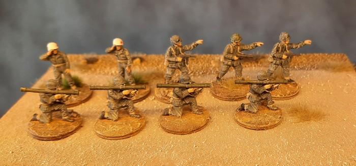 Die Kandidaten, die dem Ruf des Truppenwerbers der 3rd US Infantry gefolgt sind.