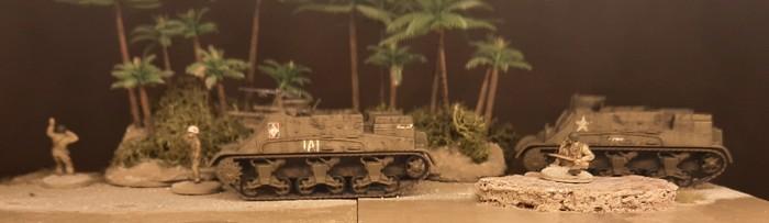 Das 10th Field Artillery Battalion dürfte eher gezogene Artillerie gehabt haben,. Das Kaliber stimmt aber...