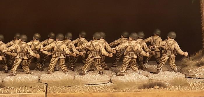 Auch von hinten machen die Matchbox US Infantry Jungs des 30th Infantry Regiment einen guten Eindruck.