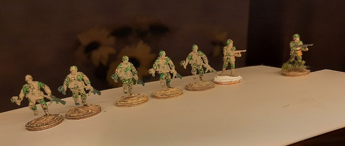 Die Tüpfeltarner des Panzergrenadier-Regiment 60 nach dem ersten Auftrag des Tüpfeltarns.