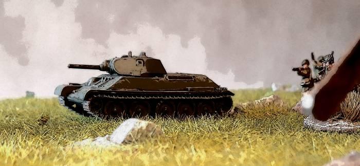 Der T-34/76. Ein mir ans Herz gewachsenes Dickblech, dem XENA nicht ganz so viel abgewinnen kann.