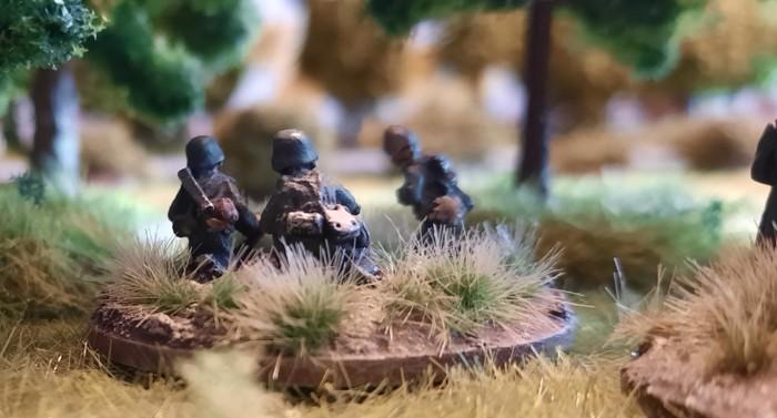 Eine Rifle Foot Group im Wald.