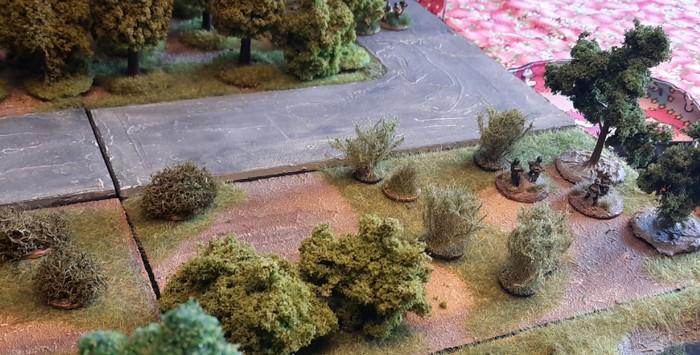 Die beiden Panzerabwehr Trupps in vorderster Linie.