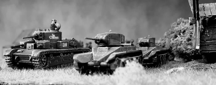 Der Early War ist nicht nur bei Zvezda, First-2-Fight und PSC angesagt. Auch bei der Fierce Battle 2021 in Monnem könnten schnuggelige T-28 und BT-5 zum Spiel antreten.