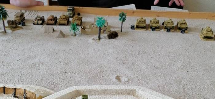 Die gepanzerten Kräfte der 21. PD vor dem Angriff.